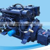 High speed marine diesel engine set with gearbox for total enclosed lifeboat 4L68CB 68Hp