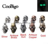 Charm Metal Skull Beads Glow in dark for Paracord Bracelet Knife Lanyards Jewelry Making Accessories #FLQ077/FLQ078/79/80                                                                         Quality Choice