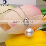 wholesale bridal real freshwater pearl necklace pendant
