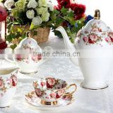 hot selling Russian style coffee tea espresso set cup & saucer dinner ware set ceramic melamine tableware set