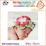 Top quality baby flower crochet headband