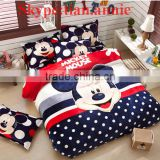 Cotton cartoon 4pcs&3Pcs set cotton bed single bedding 3D Minions children's bedding set promotion