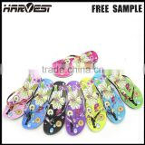 Custom blank sublimation flip flop , latest girl home slipper factory