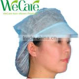 Non Woven disposable woman work cap with the hair mesh