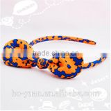 Customized design nylon bow headband hair clips fabric kids hair baby headband                                                                                                         Supplier's Choice