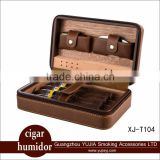 Yujia Cohiba box Cedar wood Travel leather Cigar Cabinet Humidor cigar Humidor Portable With Cigar lighter Cigar cutter