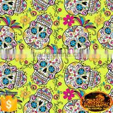 Hot Sale Dazzle Graphic Sugar Skull Design Hydrographic Film No.DGDAS0196 Feature Skull Water Transfer Printing Film
