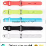 38mm/42mm Colorful Silicone Wrist Strap for Apple Watch ,for Apple Watch Silicone Band with Adaptor
