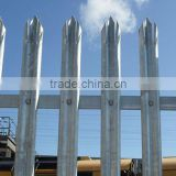Factory direct temporary wrought galvanzied steel picket fence
