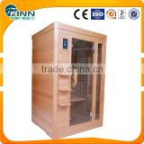 1200*1200*1900mm hemlock wood and abies canadensis material far infrared sauna room infrared sauna