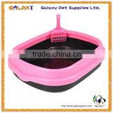 wholesale large hooded litter pan; plastic litter tray; pet disposable diaper liners