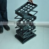 6 pack steel black magazine stand used brochure holders stand floor stand book holder