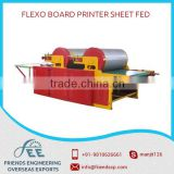 Flexo Board Printer Sheet Fed Main Frame Made From Gaded Steel Held Together By Means Of Heavy Cross Supports