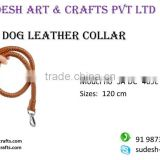 New Handmade Plain Beaded Design Safety Comfortable Soft Strong Leather Dog Collar