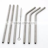Stainless Steel Straws, Bent Drinking Straws, with free Cleaning Brushes Drinking Straws for Tumbler