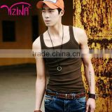 China manufacturer gold mens gym singlet