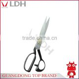 F12 Best professional high carbon steel tailor's scissors with anti-slip metal handle