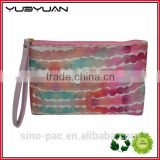 2016 Factory Sale Colored small waterproof clutch mini zipper polyester makeup cosmetic bag for girl