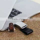 Bulk cheap items 2gb leather usb pendrive, leather case usb memory stick, promotional gift cheap usb flash drive