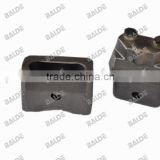 Weld on blocks bucket flat cutter mulcher teeth for Bauer BG28