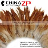 ZPDECOR Top Selling Chicken Plume Wholesale Cheap Colored Natural orange Half Bronze Rooster Schlappen Feathers Strung