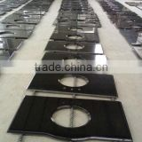 High Quality G684 Chinese black with watery spot Granite kitchen Countertop, Bath tops,Vanity tops