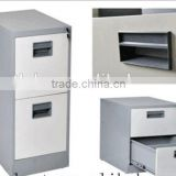 fireproof & waterproof office furniture type combination lock 2 drawer steel filing cabinet with safe inside partion