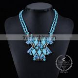 high quality vintage acrylic resin chunky statement necklace fashion women pendant necklace 6390050