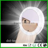 Amazon/Ebay Hot Universal battery Powered Rechargeable LED Ring Selfie Light for Mobile Phone