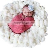 Newborn Infant Baby Photography Plush Photo Props Backdrop Beanbag Blanket Rug