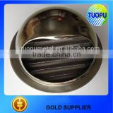 Stainless steel or aluminum round wall air vent cap for manufacturer
