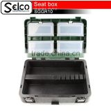 China high quality wholesale folding fishing seats box plastic storage seat box storage seat box fishing accessories