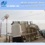 Newest Design waste oil to diesel fuel refinery/oil cleaning machine/engine oil recycling