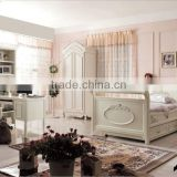 European Design Kid Bedroom Furniture, Lovely Sleigh Bed With Night Stand, Children Bed With Sliding Drawer