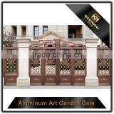 Villa Garden Decorative Color Powder Coated Aluminum Metal Garden Main Gate