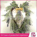 Hot sale china manufacturer heart shaped flower wreath for Decorating Room and Christmas Tree