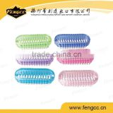 High quality transparent plastic small handle cleaning bath brush