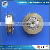 zinc plating u shape rope groove pulley v belt pulley 608zz
