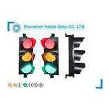 300mm 12\'\' Solar Powered Traffic Light System Intelligent Red Yellow Green Cobweb Lens