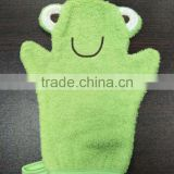 Terry Cloth Bath / Wash Cloth / Bathmitt / Bath Mitt / Green (Frog) (Yellow Ducky)