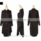 black cotton muslim dress loose fit/ junj t l muslim abaya kaftan set dress/contrast islamic muslim women dress two piece set