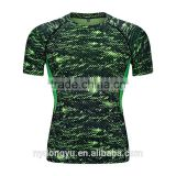 green men tight fit fast dry sports t shirts /jqi outdoor short sleeve basketball training jogging active t shrts/polyester tee