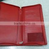 genuine cow full grain top grain luxury brand travel wallet