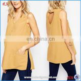 Wholesale Blank Maternity T Shirts Fashion Maternity Clothes Vest With V Neck And Pocket