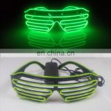 el wire glasses light up party shutter el glasses
