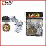 Pretend play set plastic compass pirate gun toy