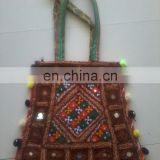 Beautiful multicolor New popular crazy designs handmade vintage banjara shoulder bag embellished with seashells,acrylic mirror