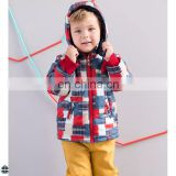 T-BC004 Boys Casual Printed Winter Straight Jacket Coat