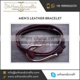 High Quality Long Lasting Leather Bracelet from Export Manufacturer for Sale