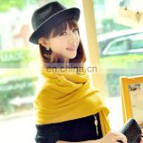 2014 Women pure acrylic solid Color pashmina (MO06--4)